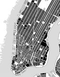 Map of the New York City, NY, USA Stock Images