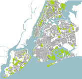 Map of the New York City, NY, USA. Vector map of the New York City NY, USA stock illustration