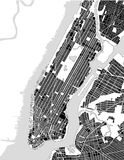 Map of the New York City, NY, USA. Vector map of the New York City NY Manhattan, USA Royalty Free Stock Photo