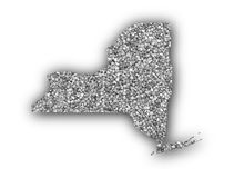 Map of New York on poppy seeds. Colorful and crisp image of map of New York on poppy seeds royalty free stock photography