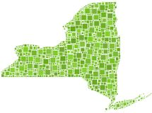 Map of New York State (USA) Royalty Free Stock Image