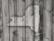 Map of New York on weathered wood. Colorful and crisp image of map of New York on weathered wood royalty free stock image