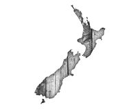 Map of New Zealand Stock Image