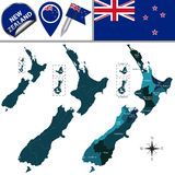 Map of New Zealand Stock Images