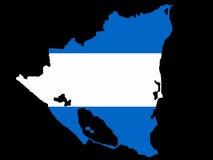 Map of Nicaragua Stock Image