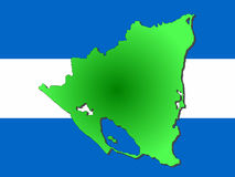 Map of Nicaragua Royalty Free Stock Images