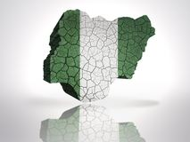 Map of Nigeria Stock Image