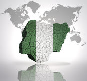 Map of Nigeria Stock Images