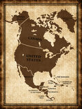 Map of North America Stock Image