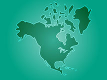 Map North America Royalty Free Stock Photos