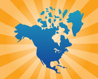 Map North America Royalty Free Stock Image