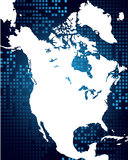 Map of North America Stock Photography