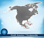 Map of North America Stock Photo