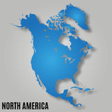 Map of north america. Continent  vector illustration Stock Images
