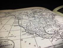 Map of North America. Drawn in an earlier royalty free stock photography