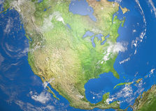 Map of north america Royalty Free Stock Photography