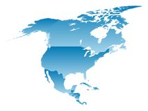 Map North America. On a white background Stock Images