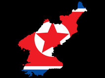 Map of North Korea Royalty Free Stock Photos