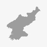 Map of North Korea in gray on a white background Stock Photo