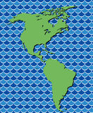 Map of north and south america Royalty Free Stock Image