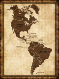 A map North and South America Royalty Free Stock Image