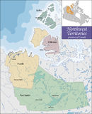 Map of Northwest Territories Stock Photography