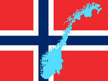 Map of Norway Royalty Free Stock Image