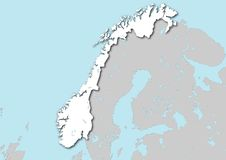 Map of Norway Royalty Free Stock Photography