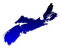 Map of Nova Scotia Stock Photos