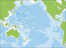 Map of Oceania Stock Image