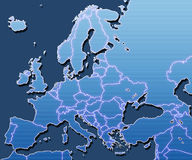 Free Map Of Europe Royalty Free Stock Photos - 3624428