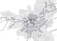 Free Map Of The City. Navigation Tourist Guide, Route Urban Chart, Geographical Location. Stock Image - 160951571