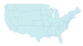 Free Map Of United States Royalty Free Stock Photo - 2161515