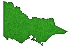 Free Map Of Victoria On Green Felt Royalty Free Stock Images - 191057579