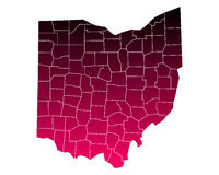 Map of Ohio Stock Photos