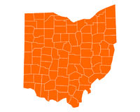 Map of Ohio Royalty Free Stock Photography