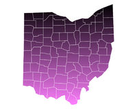 Map of Ohio Royalty Free Stock Images