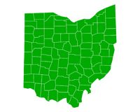 Map of Ohio Royalty Free Stock Photo