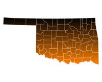 Map of Oklahoma Royalty Free Stock Images