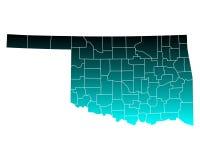 Map of Oklahoma Stock Photography