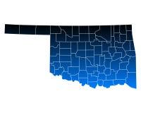 Map of Oklahoma Stock Photo