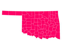 Map of Oklahoma Royalty Free Stock Photography