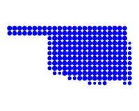 Map of Oklahoma Royalty Free Stock Image