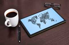 Free Map On Touchpad Royalty Free Stock Image - 28058376