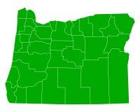 Map of Oregon Stock Photos