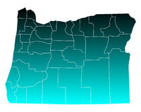 Map of Oregon Royalty Free Stock Images