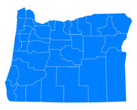 Map of Oregon Royalty Free Stock Photography