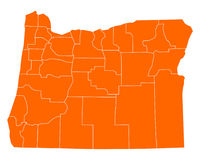 Map of Oregon Royalty Free Stock Photos