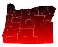 Map of Oregon Stock Image