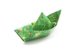 Map origami boat Royalty Free Stock Images